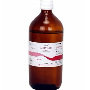 Acrylic Hi ( Hi Impact Denture Base Liquid) - 400 Ml Pyrax