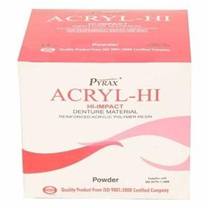 Acrylic Hi ( Hi Impact Denture Base Powder ) - 200 Gms Pyrax