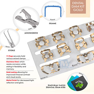 GDC Dental Rubber Dam Kit GOLD